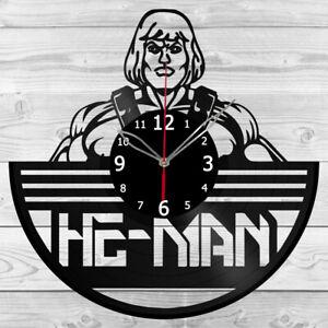 Vinyl Clock He-man Vinyl Record Wall Clock Home Art Decor Handmade 5438