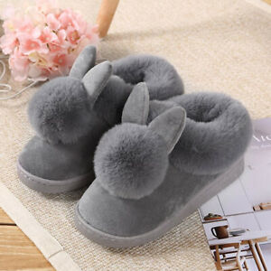 Ladies Plush Slippers Ladies Rabbit Slipper Boots Women's Soft Warm Shoes