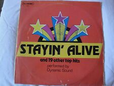 STAYIN' ALIVE AND 19 OTHER TOP HITS PERFORMED BY DYNAMIC SOUND 2X VINYL LP 1978