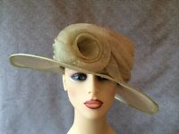 Ladies Formal Occasion Wedding Races Hat Pale Lime Green By Jacques Vert