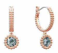 Crystal Ros Authentic Mib 5468739 Swarovski Oxygen Pierced Earrings, Gray