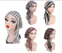 Muslim Women Stretch Hair Loss Hat Head Scarf Head Wrap Turban Cancer Chemo Caps