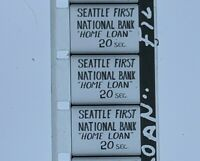 """Advertising 16mm Film Reel- Seattle First National Bank """"Home Loan Baby"""" (SB34)"""