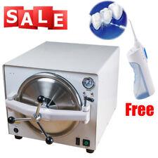 Medical Steam Sterilizer Autoclave Dental Pressure Stainless Steel + Irrigator