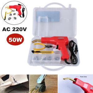 220V Hot Stapler Car Fairing Welder Gun Plastic Bumper Welding Tool +200 Staples