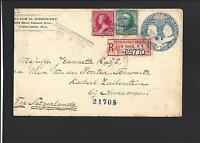 CHICAGO, ILLINOIS COVER 1894. REGISTERED. 1 Cent Columbian Entire to Netherlands