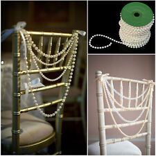 New 5M Cream Pearl Beads String 6mm Garland DIY Wedding Party Trim ABS Decoratio