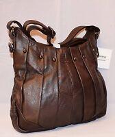 Ladies Women Genuine Leather Handbag D-BROWN Soft Cross Body Shoulder Bag 3731