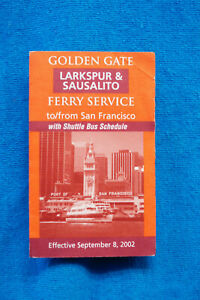 Golden Gate Ferry Service - Larkspur & Sausalito to San Francisco - 9/8/02