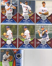 2009 Upper Deck USA National Team and 18U (7) game used lot W/Griffin,Colon,Malm