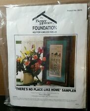 Better Homes Foundation There's No Place Like Home Sampler counted cross stitch