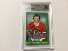 Larry Robinson Signed 1973/74 OPC O Pee Chee RC Card Beckett BAS BGS COA c