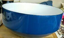 "Vintage  Copco 12"" Blue Enamelware Bowl-Michael Lax Switzerland"