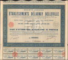 Etablissements DELAUNAY BELLEVILLE, Automobile (SAINT-DENIS 93) (O)