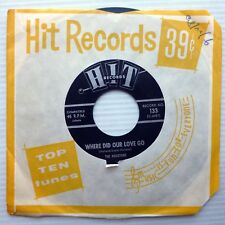 the HOUSTONS mint minus 45 Where Did Our Love Go b/w LEROY JONES Steal Away W995