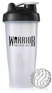 Warrior Protein Shaker Mixer Cup 600ml All Supplements Pre Workout BCAA Powder