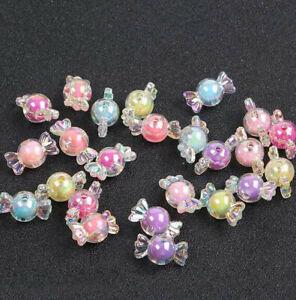 20X AB Farbe Acryl Candy Bow Bead Haarband Armbänder Schmuckherstellung