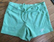 girls gk cotton blend green gymnastics shorts size child medium M