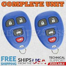2 For 2006 2007 2008 2009 Chevy Impala Keyless Entry Remote Car Key 4btn Blue