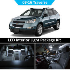 2009-2016 Chevy Traverse Interior + License + Reverse LED Light Package Kit