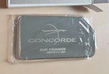 CONCORDE AIR FRANCE RARE ETIQUETTE BAGAGE PORTE ADRESSE EN METAL