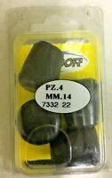 Labor 7332 puntali puntale calzante in gomma colore nero x gambe sedia 4 pz 14mm
