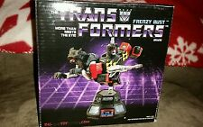 SALE!  ARTIST PROOF!! Transformers cassettes diamond select frenzy w ravage bust