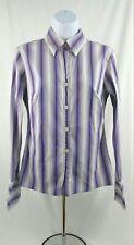 Women's Michael Kors Light and Dark Purple Long Sleeve Button Down Shirt Sz 6)N1