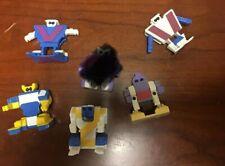 Lot Of 5 Transforming Robot Letters Vintage