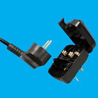 Earthed Schuko Euro to UK 3 Pin Mains Fused Plug Converter Travel Adaptor