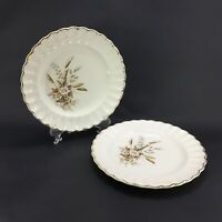Vintage USA Limoges, Sun Valley, with 22k Gold Gilt Accents Plates