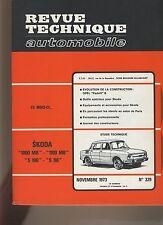 (30B) REVUE TECHNIQUE AUTOMOBILE SKODA 1000MB-1100MB-S100-S110 / OPEL KADETT B