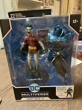 McFarlane DC Multiverse ROBIN EARTH 22  DARK NIGHTS  Build #1 CROOKED OPEN MOUTH