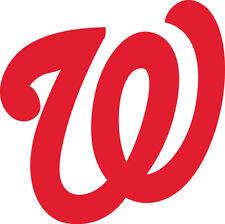 "Washington Nationals Corn Hole (Bag Toss) 14"" x 14""  Vinyl Decals set of 2"