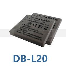 2x 3.7v Battery For DB-L20 Sanyo Xacti VPC-CA6 VPC-CA8 VPC-CA9 VPC-CA65 VPC-CG5