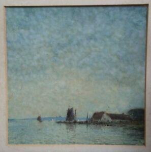 Percy Lancaster RBA RI (1878-1951)Watercolour Painting,Genuine,Shore Scene,U/Fr.