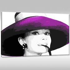 Leinwandbild Canvas Wandbilder Film Hollywood Star Audrey Hepburn Schauspielerin