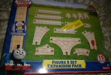 Thomas wooden train track Figure 8 Set Expansion Pack New 15 pieces railway