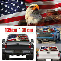 USA American Flag Eagle Car Sticker Rear Window Graphic Truck Suv Label Decal