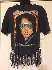 Rare Vintage Doors Jim Morrison Large T- Shirt Beaded & Slashed Back