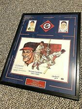 Stan 'The Man' Musial signed litho/ matted display 22x28 w/Musial patch/PS cards