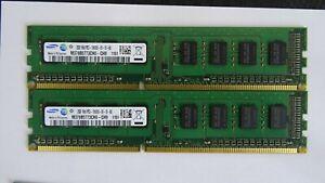 4GB (2x2GB) DDR3 PC3-10600U 1333 MHZ 240 PIN PC RAM DESKTOP MEMORY INTEL AND AMD
