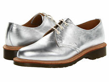 Dr. Martens Women`s 1461 3 eye Core Silver MIE US 7 EU 38 UK 5 Retail $310