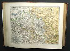 1893.Mappa Geo-Topografica=SLESIA=POLONIA.GERMANIA.REP.CECA.MEYERS Scala1:150000