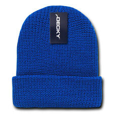 Royal Blue GI BEANIE HAT Cuffed Knit Winter Watch Cap ski snowboard army skully
