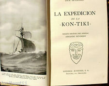 La expedición de la Kon-Tiki/ Thor Heyerdahl/ Juventud/ 1952/ 4ª edición