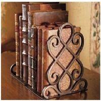 2Pcs/Set Iron Vintage Book End Design Shelf Craft Stand Antique Bookend Decor