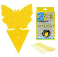 Yellow Dual Sticky Fly Traps (10 Pack) For Gnat Whiteflies Fungus Gnats