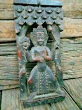 Old vintage Hanging Wooden Quality Very Old Radha Tara,God Carved Sculpture