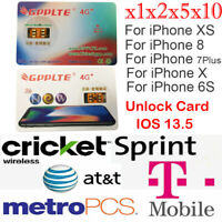 1/2/5/10 GPPLTE 4G+ Turbo SIM Card Unlock For iPhone X 8 7 6S Plus LTE IOS 13.5